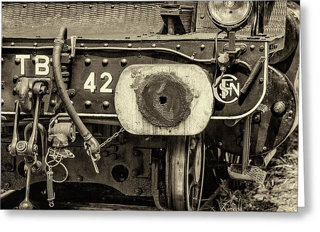 Steam Train Series No 1 Greeting Card by Clare Bambers
