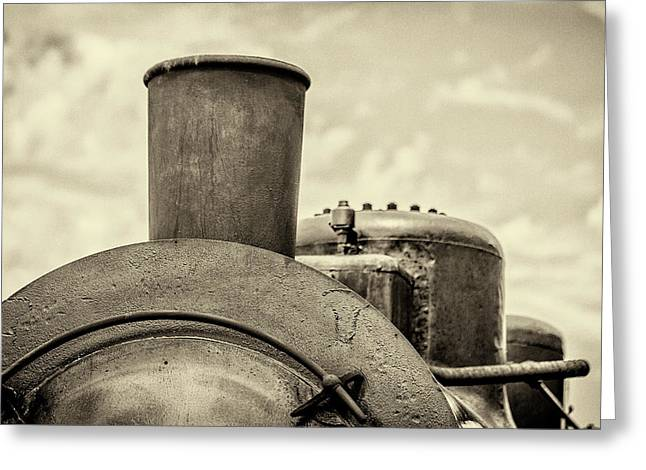 Greeting Card featuring the photograph Steam Train Series No 2 by Clare Bambers