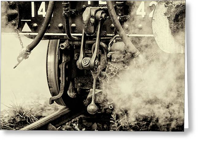 Steam Train Series No 3 Greeting Card by Clare Bambers