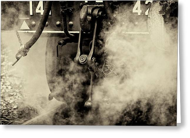 Greeting Card featuring the photograph Steam Train Series No 4 by Clare Bambers