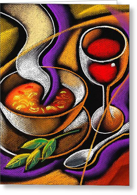 Visual Art Greeting Cards - Steaming Supper Greeting Card by Leon Zernitsky