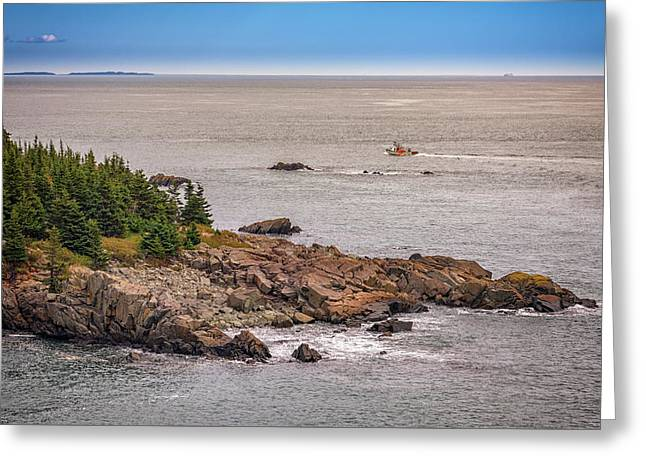 Steaming Through Quoddy Narrows Greeting Card