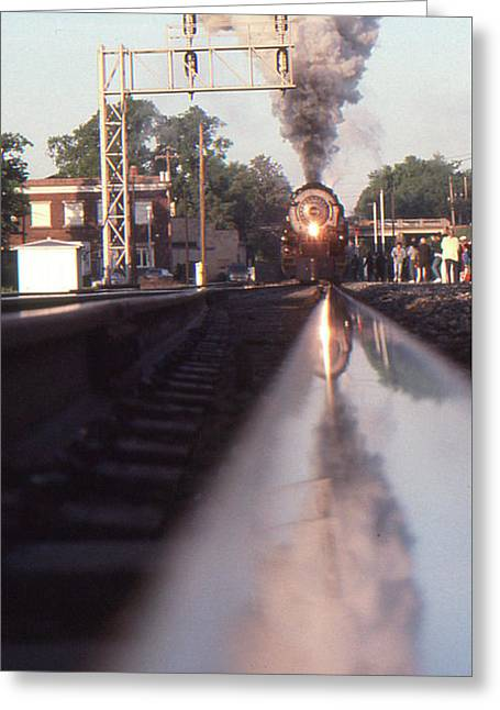 Steaming Up Greeting Card by Gordon Mooneyhan