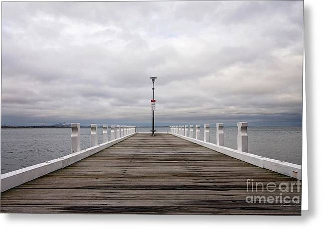Greeting Card featuring the photograph Steampacket Quay by Linda Lees