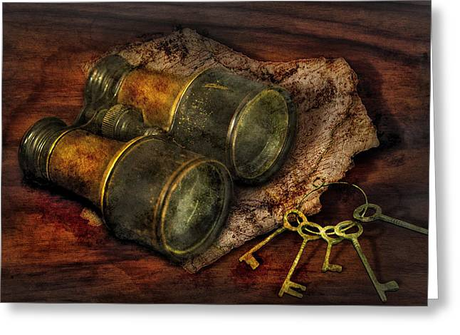 Steampunk - Extendo Optics  Greeting Card by Mike Savad