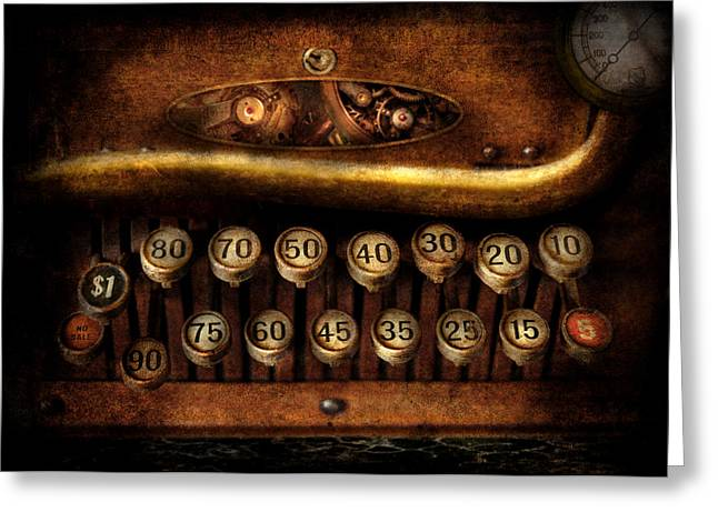 Best Sellers -  - Mechanism Photographs Greeting Cards - Steampunk - Remuneration mechanism Greeting Card by Mike Savad