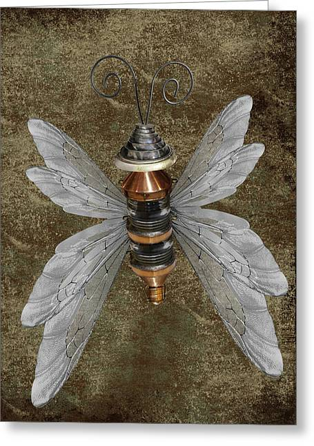 Steampunk Butterfly Greeting Card