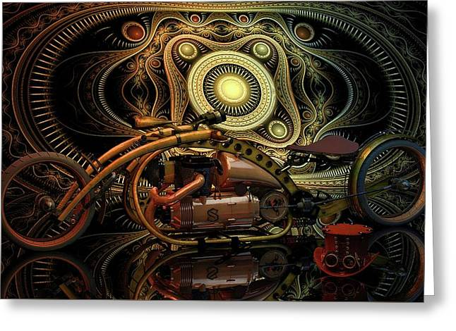 Greeting Card featuring the photograph Steampunk Chopper by Louis Ferreira