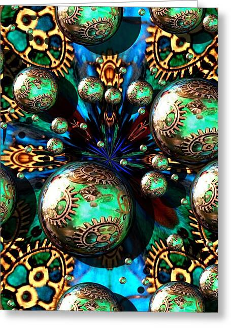 Steampunk Fractal 71216.4 Greeting Card
