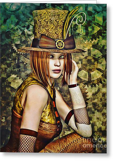 Steampunk Girl Two Greeting Card