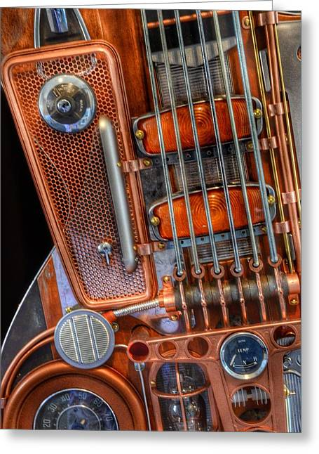 Steampunk Guitar 2 Greeting Card by Marianna Mills