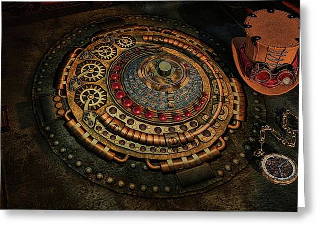Greeting Card featuring the photograph Steampunk by Louis Ferreira
