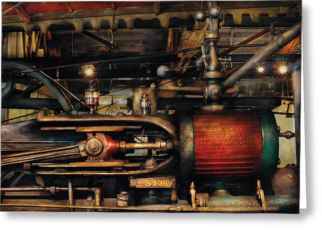 Steampunk - No 8431 Greeting Card by Mike Savad