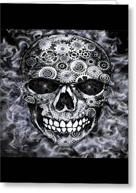 Steampunk Skull Greeting Card