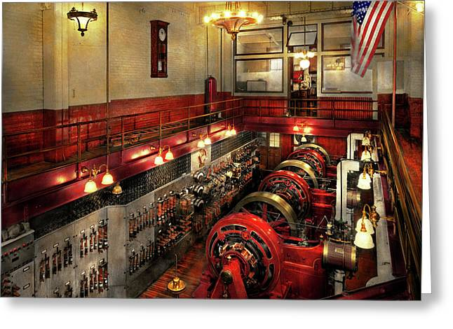 Steampunk - The Engine Room 1974 Greeting Card