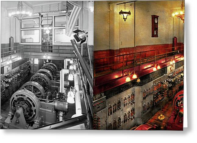 Steampunk - The Engine Room 1974 - Side By Side Greeting Card