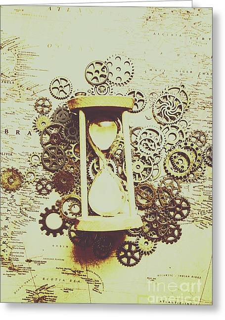 Steampunk Time Greeting Card by Jorgo Photography - Wall Art Gallery