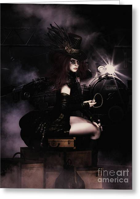 Steampunkxpress Greeting Card by Shanina Conway