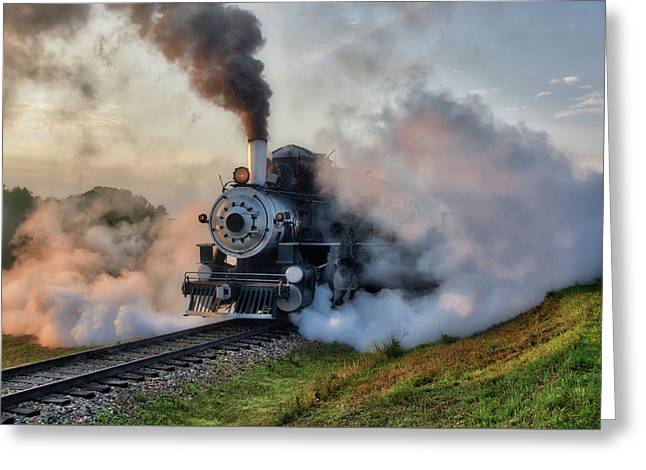 Steamy Departure Greeting Card