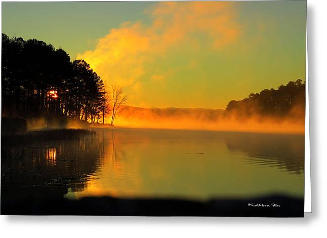 Steamy Sunrise Greeting Card