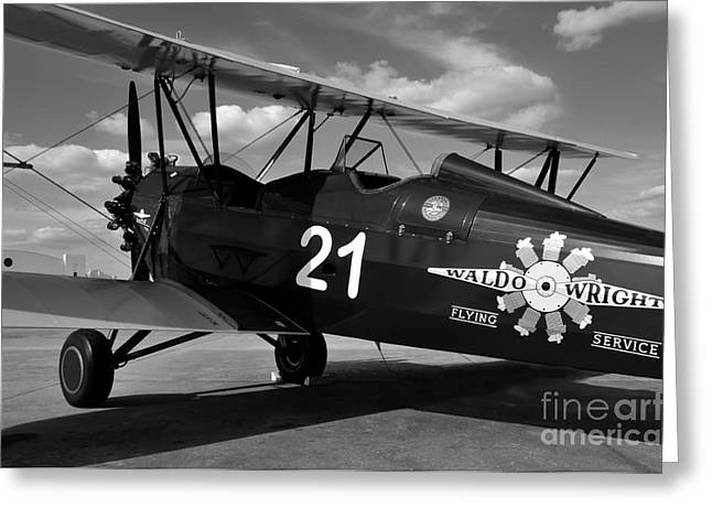 Stearman Biplane Greeting Card by David Lee Thompson