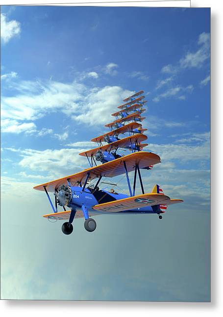 Stearman Stack Greeting Card