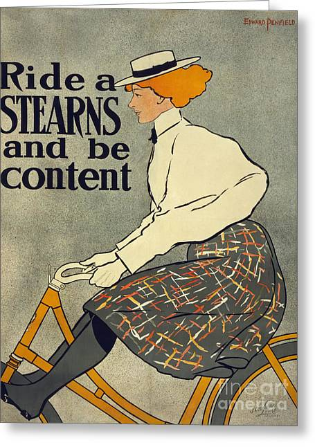 Stearns Vintage Bike Advertisement Poster Greeting Card by Edward Fielding