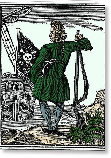 Stede Bonnet, English Pirate Greeting Card by Science Source