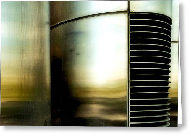 Metal Sheet Greeting Cards - Steel Abstract 1 Greeting Card by Emilio Lovisa