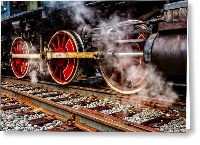 Steel And Steam Greeting Card