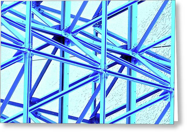 Steel Canopy Square Greeting Card