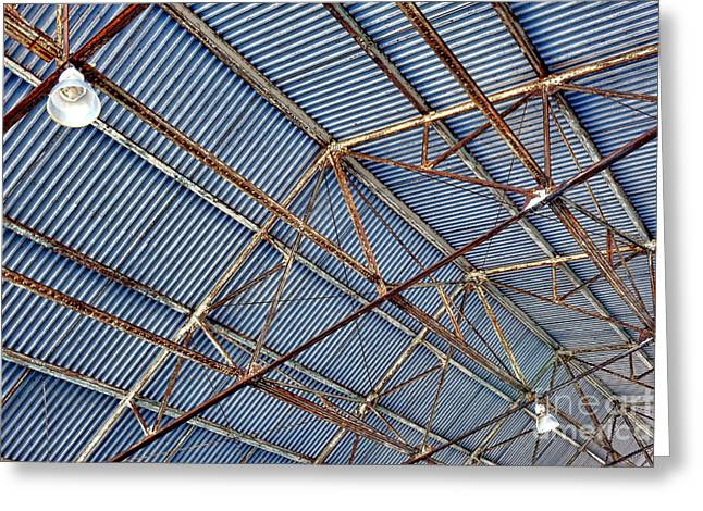 Steel Ceiling Greeting Card by Olivier Le Queinec