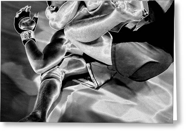 Action Sports Art Photographs Greeting Cards - Steel Men Fighting 4 Greeting Card by Frederic A Reinecke