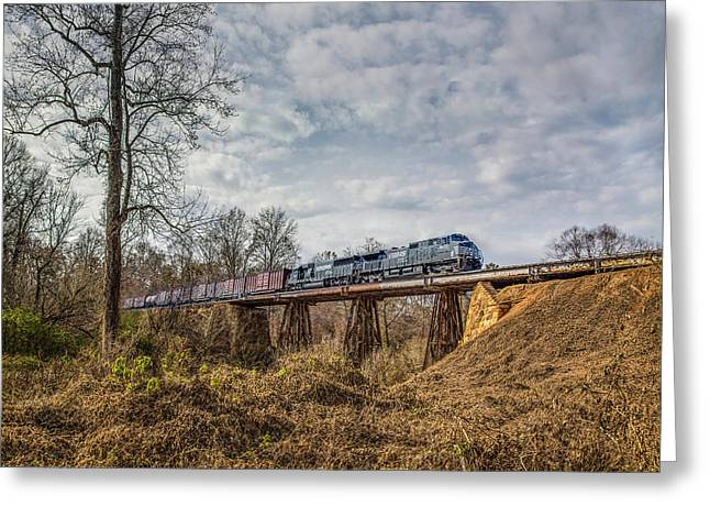 Steele Creek Trestle Panorama Greeting Card