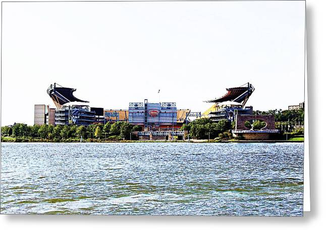 Steeler Central Greeting Card by Melinda Dominico