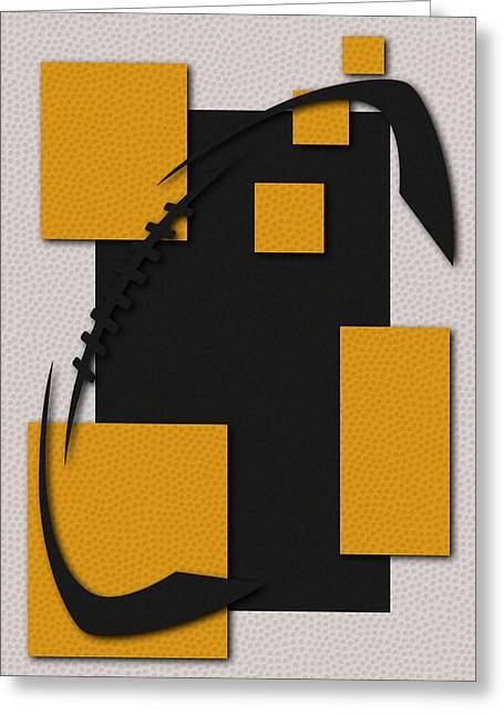 Steelers Football Art Greeting Card by Joe Hamilton