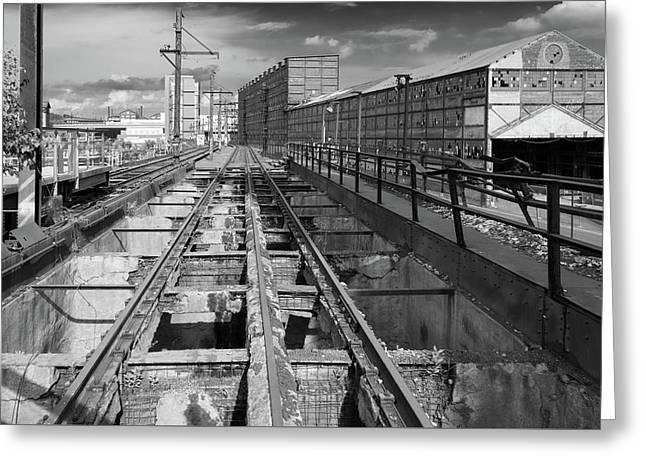 Steelyard Tracks 1 Greeting Card