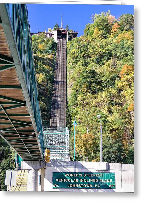 Steep Johnstown Incline Greeting Card