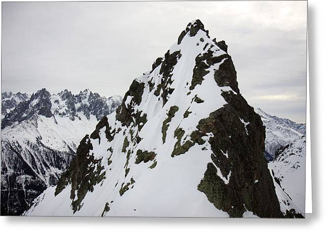 Steep Mountain Chamonix France Greeting Card by Pierre Leclerc Photography