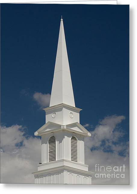 Steeple And Clouds Greeting Card by Merrimon Crawford
