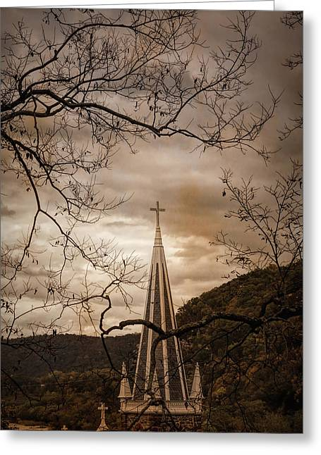 Steeple Of Time Greeting Card