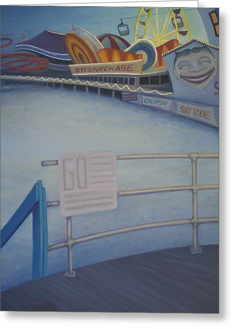 Steeplechase Pier Greeting Card