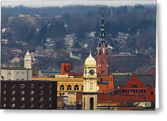 Steeples Of Dubuque Greeting Card