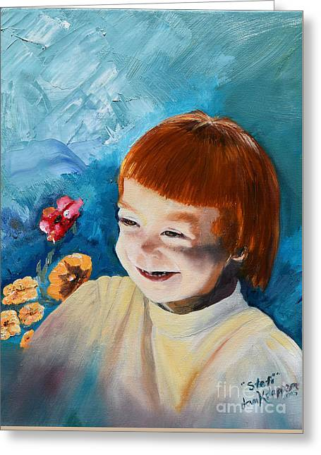 Stefi- My Trip To Holland - Red Headed Angel Greeting Card