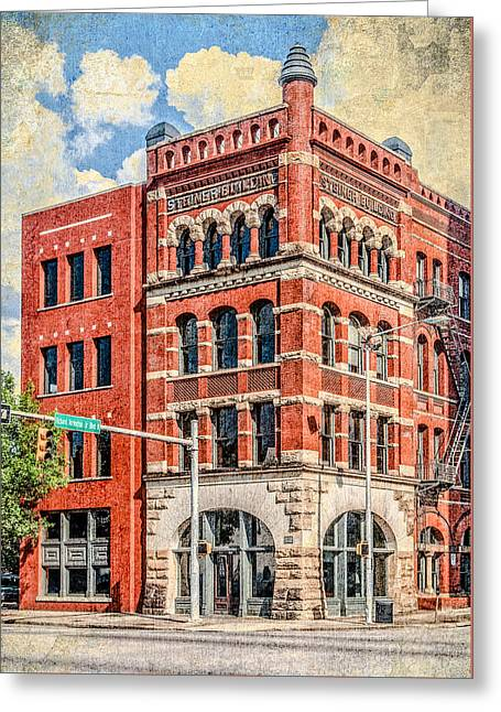 Steiner Building Greeting Card by Phillip Burrow