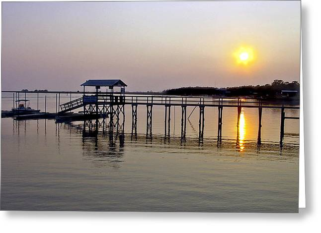 Steinhatchee Sunset Greeting Card by Robert OP Parrish