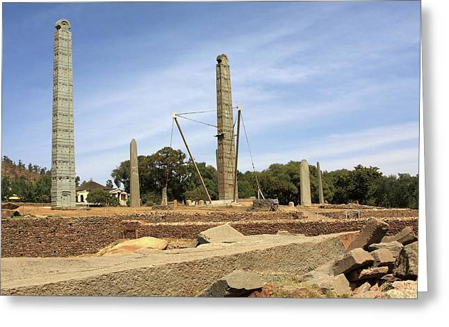 Stelae Park In Axum, Ethiopia Greeting Card