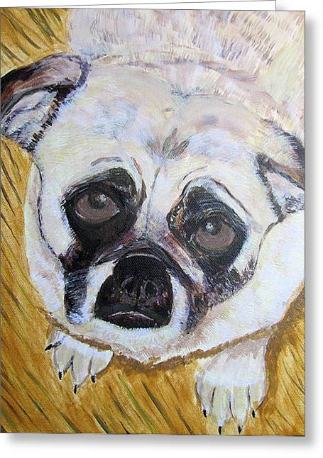 Greeting Card featuring the painting Stella by Barbara Giordano