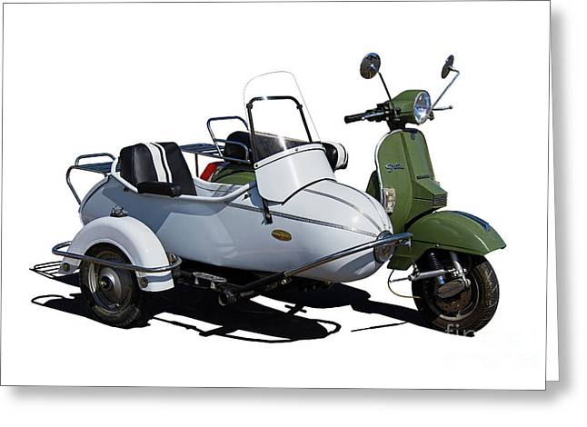 Stella Scooter With White Sidecar Greeting Card
