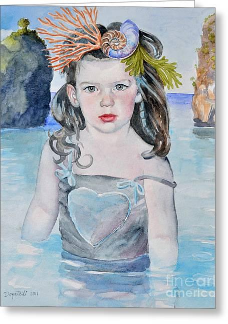 Stella Silver Mermaid Greeting Card
